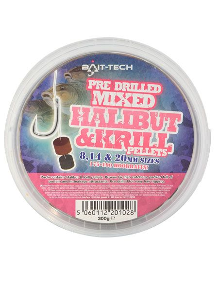 Bait Tech Drilled Halibut Krill Pellets