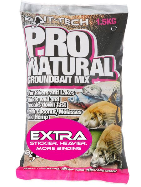 Bait Tech Pro Natural Extra Groundbait